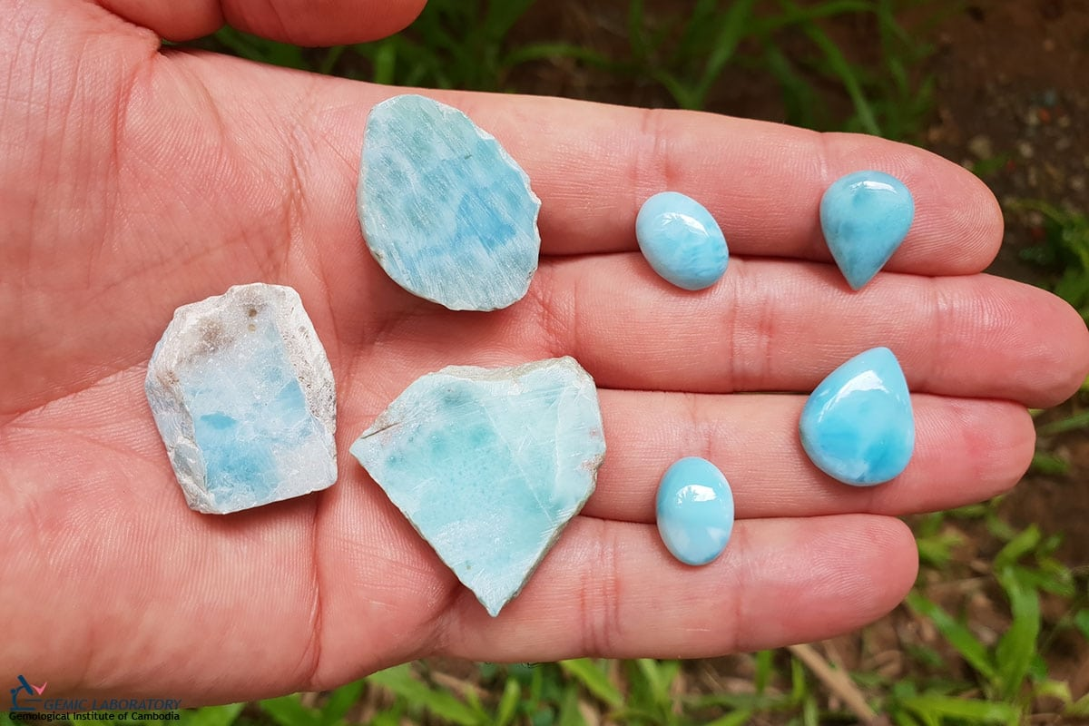 Natural Larimar From Dominican Republic Silicate Mineral