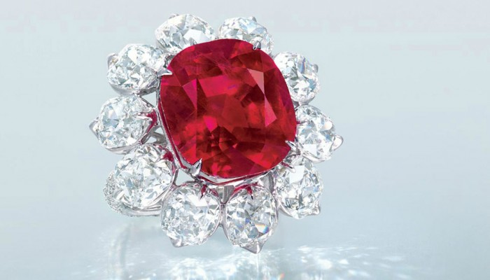 Auction Record per Carat per un Ruby