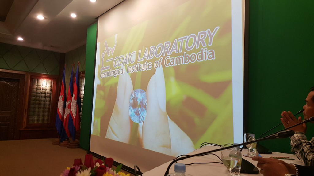 Presentation of the Gemological Institute of Cambodia at Somadevi Angkor Hotel, Siem Reap