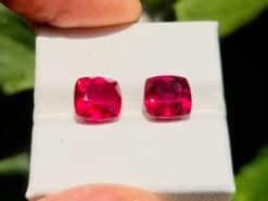 coppia di rubini 6.93 ct